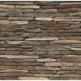 Stonecraft 12 Sq Ft Multicolor Ledge Stone Veneer House