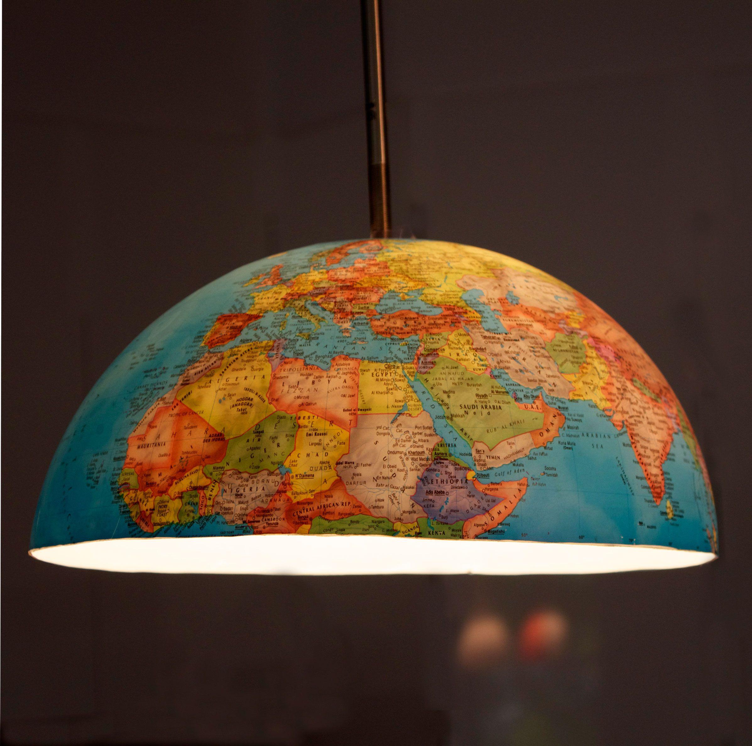 World globe lampshade pinterest globe playrooms and bespoke world globe lampshade gumiabroncs Images