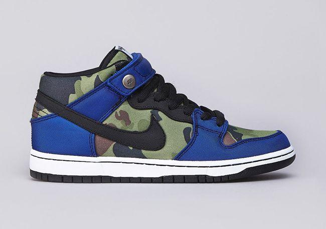 Nike SB Dunk Mid Pro Premium Old Royal   MATÉRIA:estilo