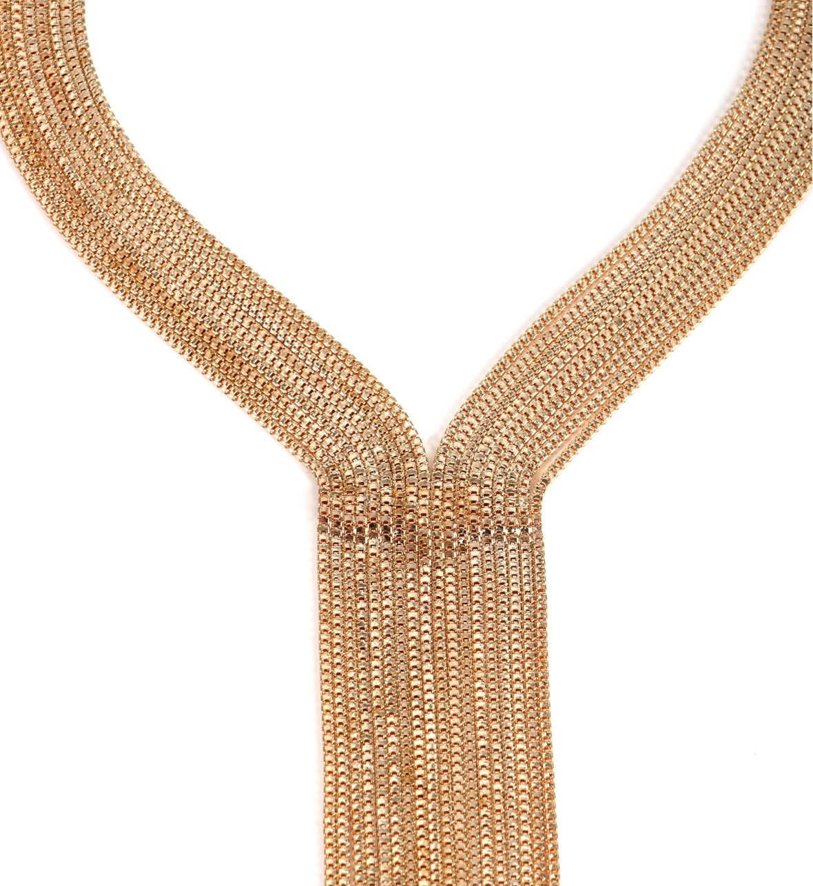 Now This Is A Statement! Necklace Features A Nine Row Box