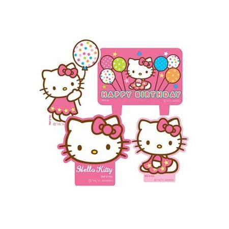 Hello Kitty Candle Set Party Supplies Walmart Com Hello Kitty