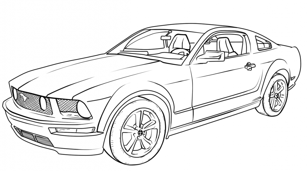 Car With Spoiler Coloring Page Coloring Home Cars Coloring Pages Mustang Drawing Coloring Pages For Boys
