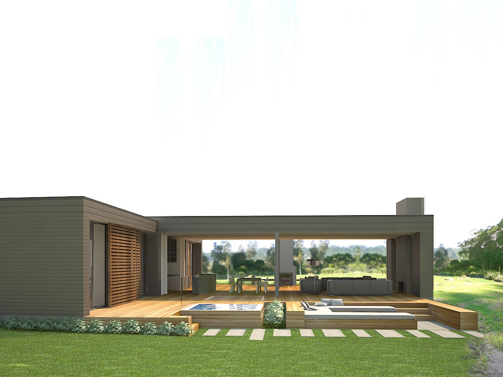 This holiday home at Hot Water Beach is being designed and developed ...