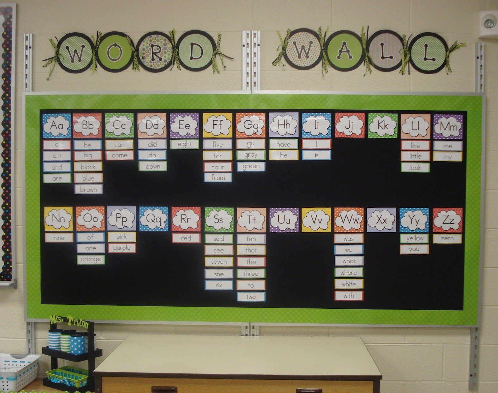 Classroom Interactive Ideas ~ Storage tip pinterest interactive word wall bulletin