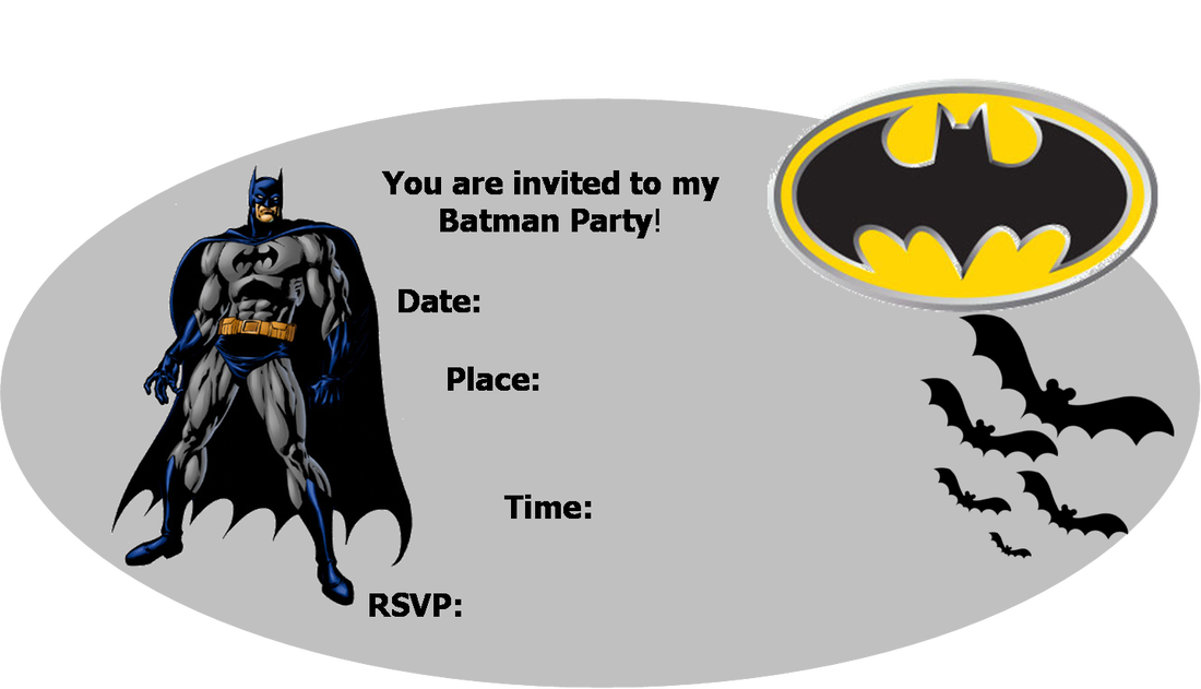 Batman Party Invitations Template WAUXQrsJ