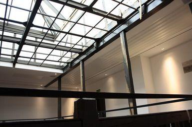 Tagesansicht Glasdach von innen