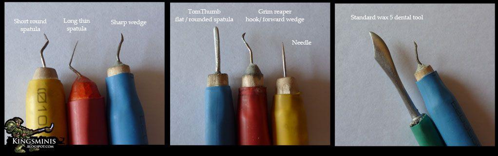 Kings Miniatures: Tutorial: Making miniature sculpting tools