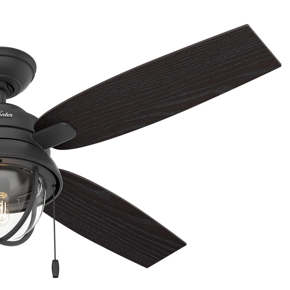 Hunter Barnes Bay 52 In Led Indoor Outdoor Natural Iron Ceiling Fan With Light Kit 59560 The Home De Ceiling Fan With Light Ceiling Fan Outdoor Ceiling Fans