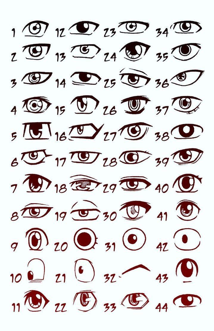 Male Anime Eyes : anime, Manga, Drawing,, Drawing, Tips,, Anime