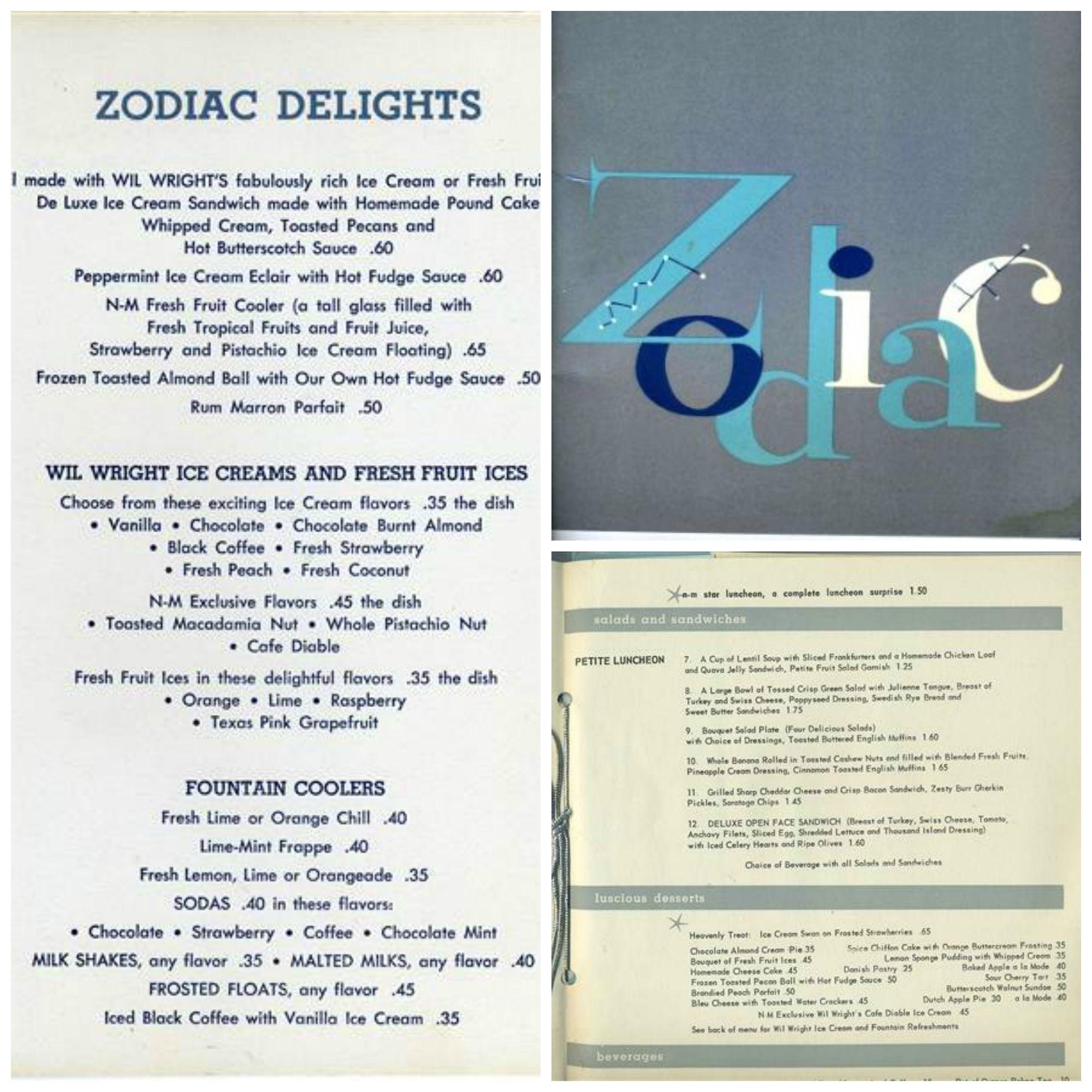 Zodiac Room Menu Fort Worth