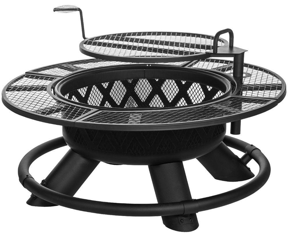 King Ranch Fire Pit With Grilling Grate Srfp96 By Big Horn Outdoors Llc For 199 99 In Grills Smokers Fire Pit Backyard Fire Pit Grill Fire Pit Landscaping