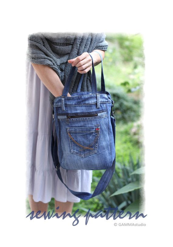 Sewing Denim Bag PATTERN DIY Denim Bag Make your own denim Denim Bag  Patterns d3cd3b34d5115