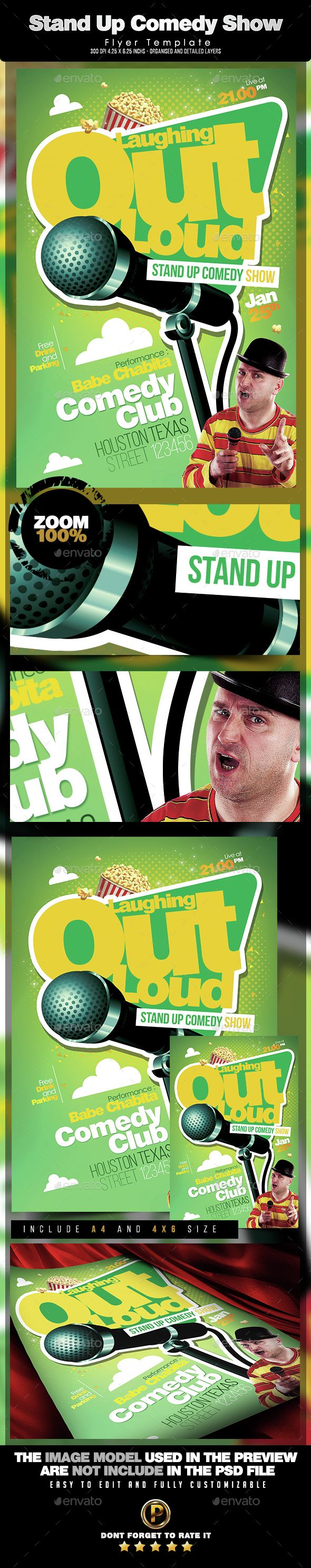 Comedy Show Flyer Template xtremeflyerscomedyshow – Comedy Show Flyer Template