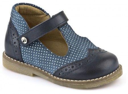 Zapatos azules con velcro formales Superfit Mike infantiles QxQVE