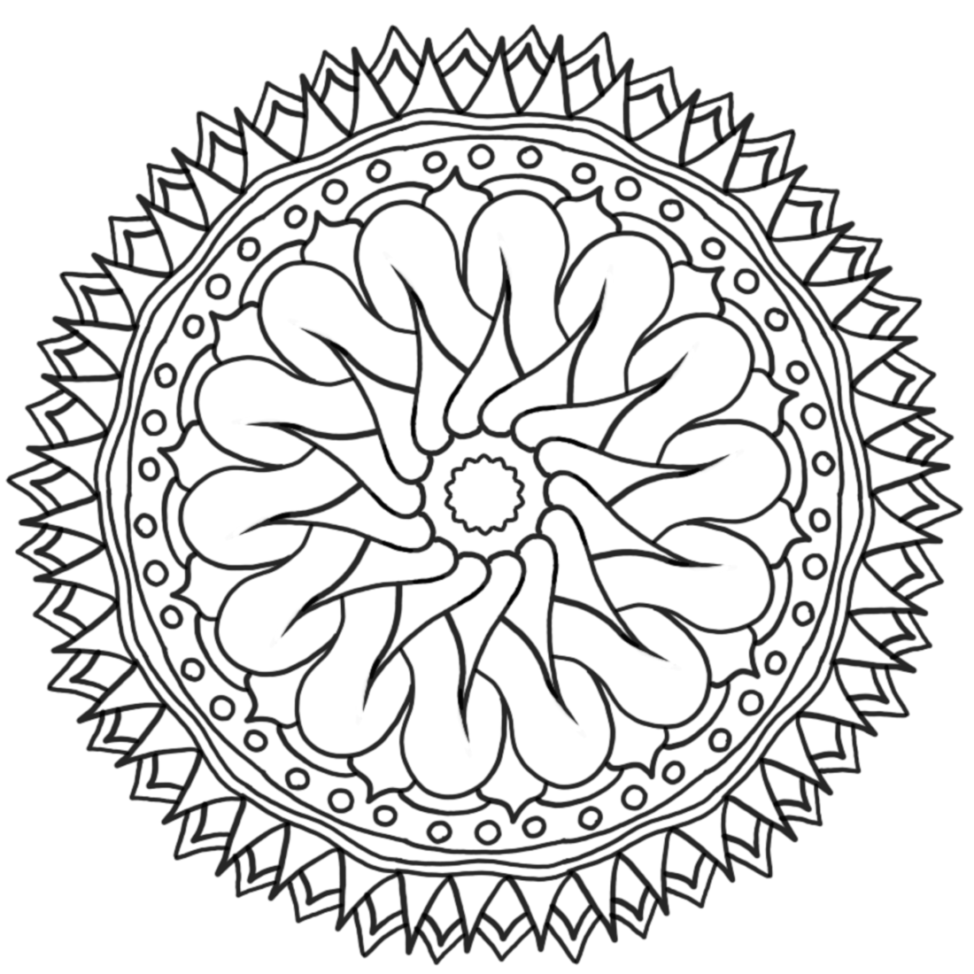 Carried Away - a printable coloring page  Mandala coloring pages