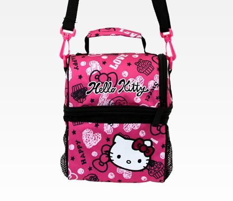 O Kitty Lunch Bag With Container Squiggle