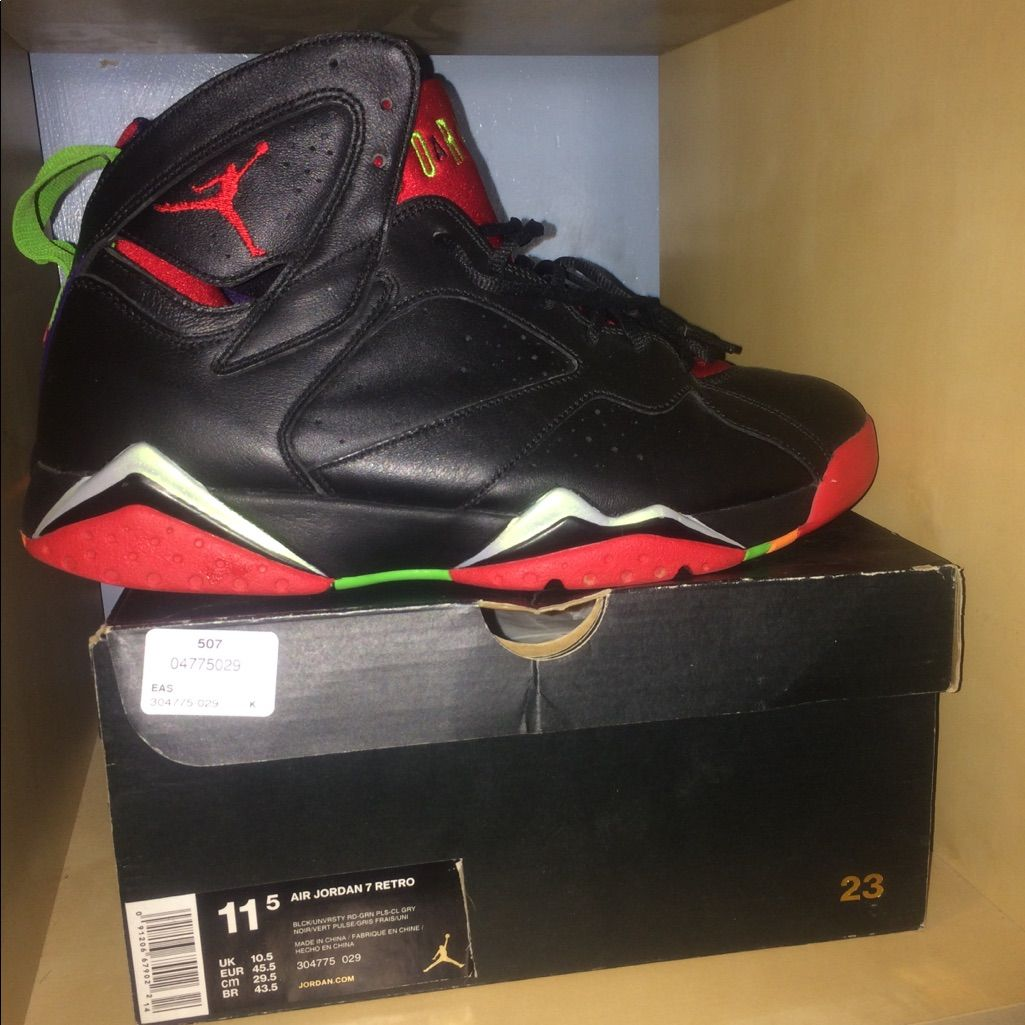 Jordan Shoes Jordan 7 Retro Marvin The Martian Size 11 5 Color