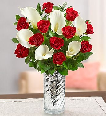 Stunning Red Rose Calla Lily 1 800 Flowers Com 92930 Fresh Flowers Arrangements Flower Bouquet Vase Calla Lily