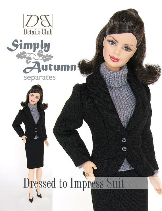 Sewing pattern for 11 1/2 inch fashion dolls: Dressed to Impress ...