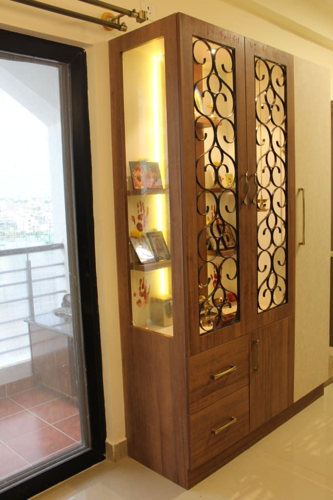 9 Traditional Pooja Room Door Designs In 2020: By Foyer2attic Interiors In 2020