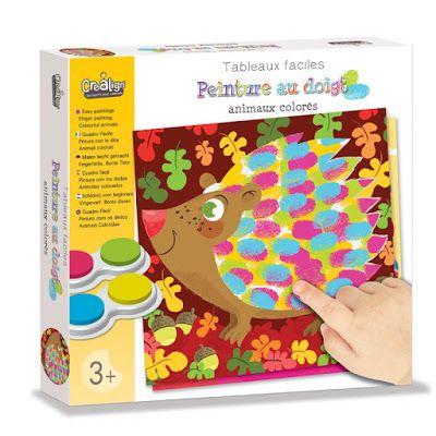 Des 3 Ans Tableaux Faciles Peinture Au Doigt Chez Crealign Peinture Au Doigt Animaux Colores Creatif