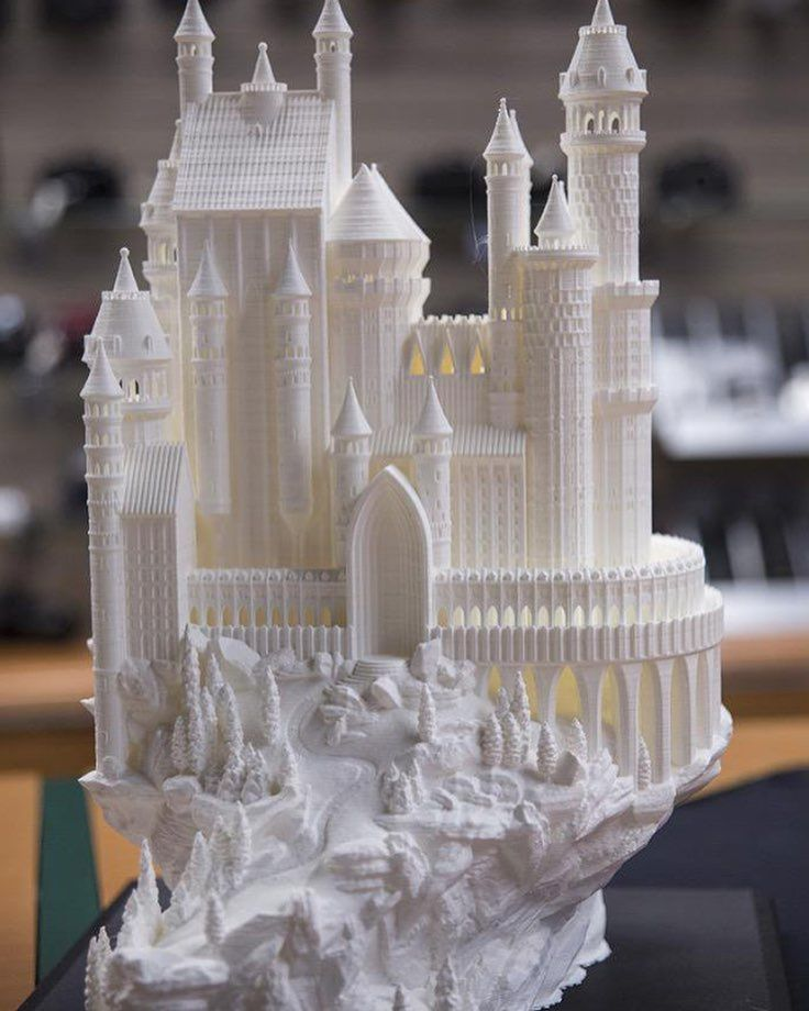 Something we liked from Instagram! Castle model as printed by B&H in NYC. This monster requires the full build volume of the Makerbot Z18. Check out our earlier post to see the rendered model.  #3d #3dart #3dprint #3dprinter #art #castle #fantasy #fairytail #sculpture #pic #picoftheday #photo #photooftheday #cool #scifi #makerbot #bandh #nyc #la #3dmodel #3dprinting #zbrush #solidworks #thingiverse by thetoothandnail check us out: http://bit.ly/1KyLetq