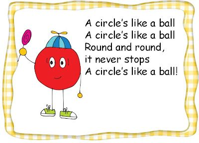Shape Poems FREEBIE (Can sing to the tune of The Farmer in the Dell)