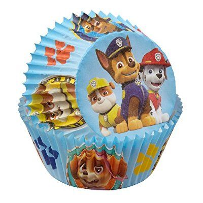 Pack of 50 Disposable Cupcake Liners Wilton Paw Patrol Baking Cups