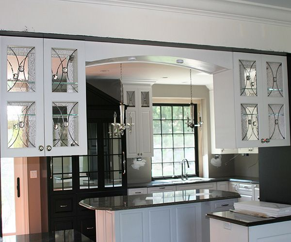 etched glass inserts for kitchen cabinets pictures to pin from Glass ...