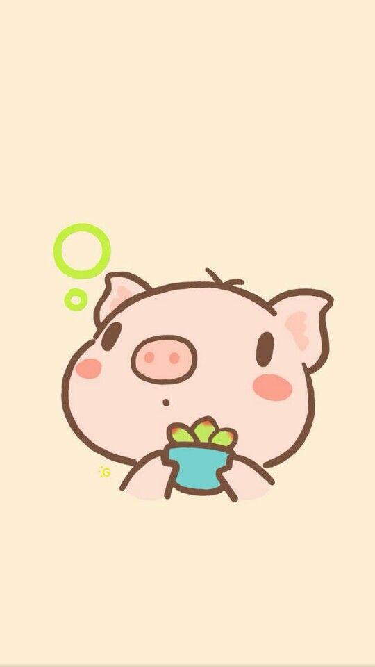 Wallpaper Iphone Pig Wallpaper Kawaii Pig Cute Pigs
