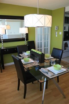 Pin By Debbie Moore On Decorating Green Dining Room Dining Room Contemporary Home Decor