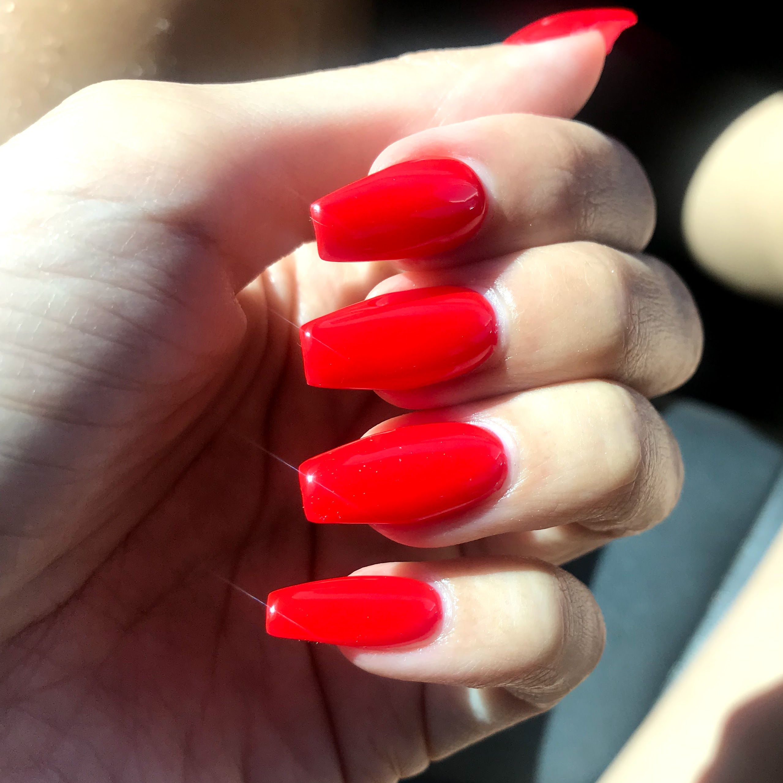 Ferrari Red coffin nails ❤️❤️