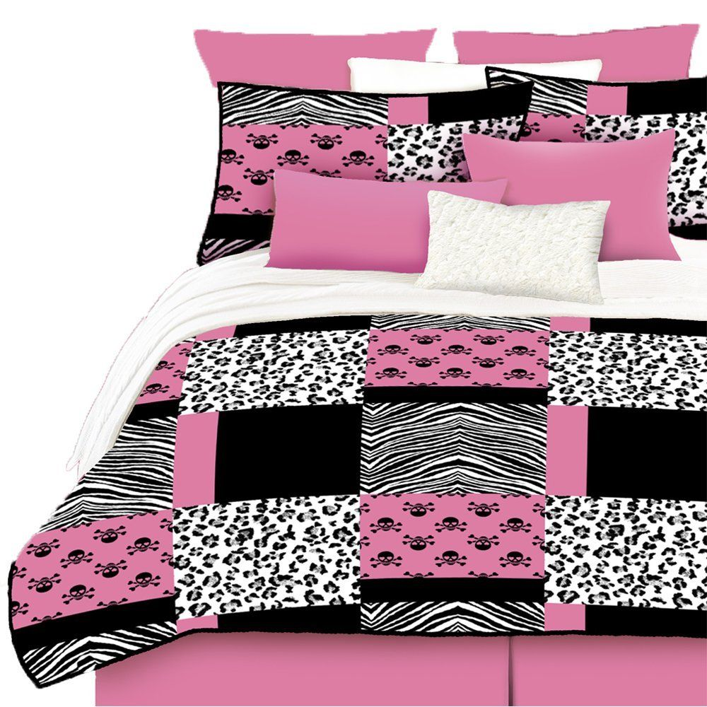 Hot Pink and Black Bedroom Decor | Cozy Bedroom Bedding ...