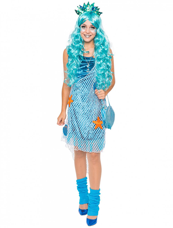 WIL Damen Kostüm Nixe Meerjungfrau Karneval Fasching