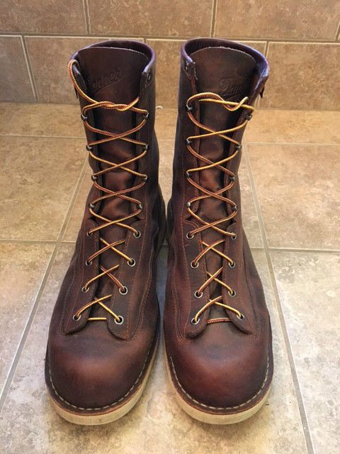 Men's Danner Bull Run 8-Inch Brown Cristy Work Boots Size 14 Made ...