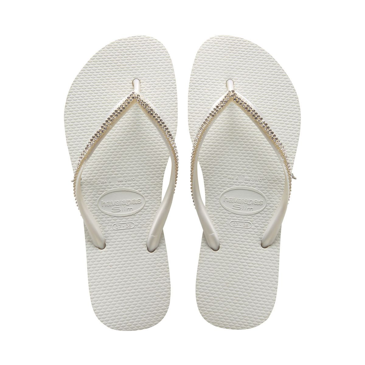 fd21fc17c 37 38 - Havaianas - Women - Slim Crystal Mesh Flip Flops