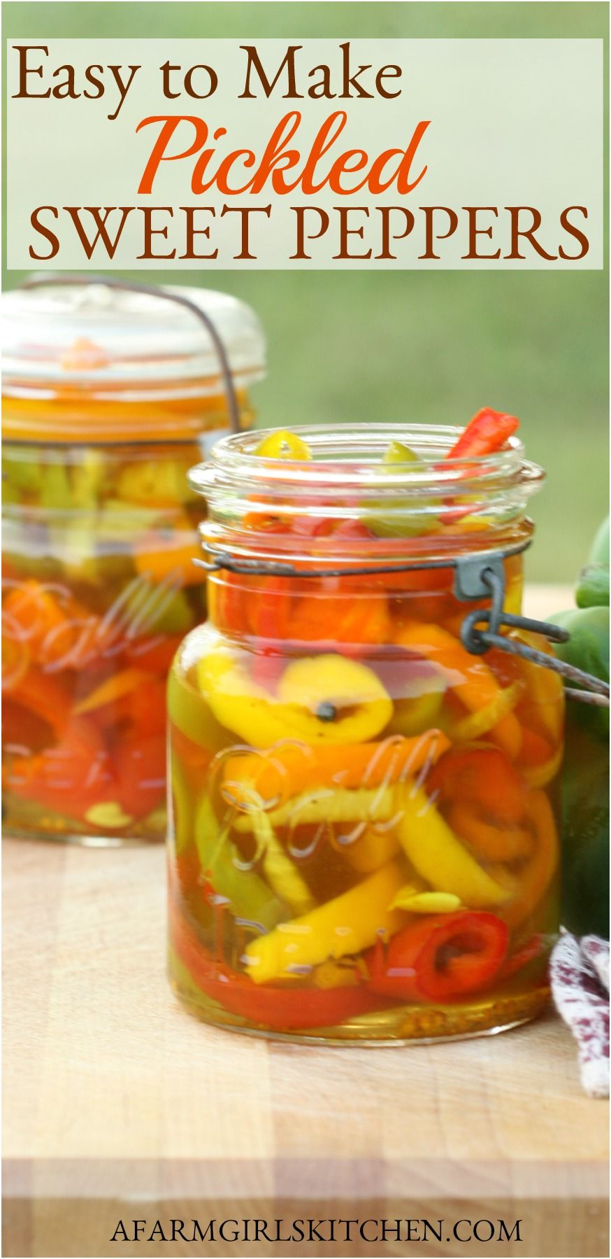 Pickled Sweet Peppers Easy To Make In 2020 Pickled Sweet Peppers Stuffed Sweet Peppers Sweet Pepper Recipes