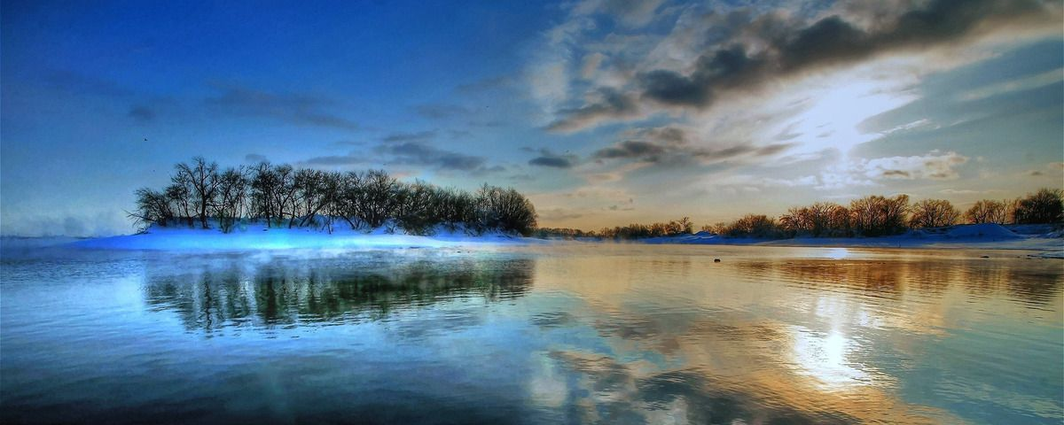 السماء الزرقاء الجميلة بحيرة خلفية الثلوج Sky Lake Background Sky