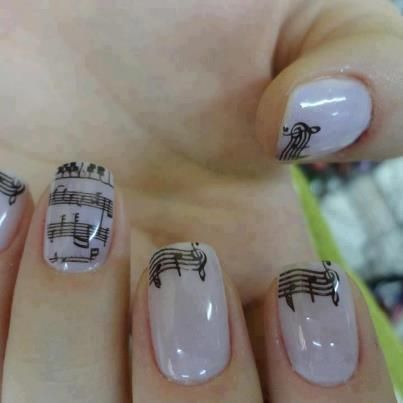 Music note nails!! Not sure who original artist is