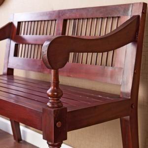 Southern Enterprises Mahogany Bench-BC9244 - The Home ...