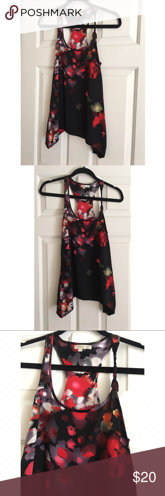 ⚫️ SALE ⚫️ Matty M Silk Sleeveless Blouse - XS Matty M Silk Sleeveless Blouse - Size XS. 100% Silk. Excellent condition. One shoulder strap is braided. Dry cleaned. No rips, tears, or stains. Matty M Tops Blouses