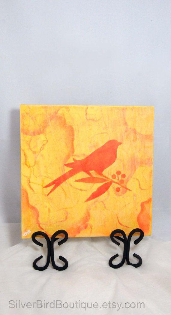 Bird Painting, Canvas Nature Art, Colorful Bird Wall Art, Home Decor ...