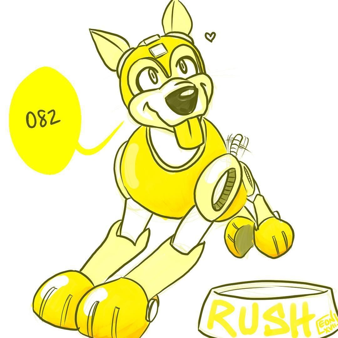 Rush! The bestest boy. . #rush #megaman #fanart #videogames #gamer  #artstagram #artistsofinstagram #sketch #tweet #dailyart #mecha   082