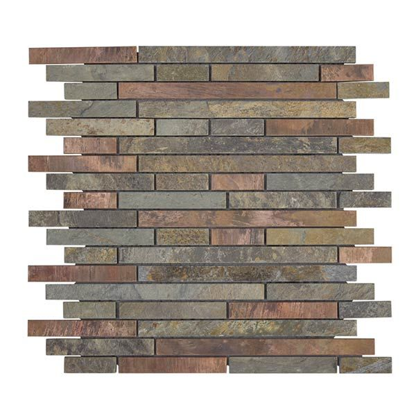 Satin Copper Slate : Jeffrey court chapter pietra opus slate and quartz