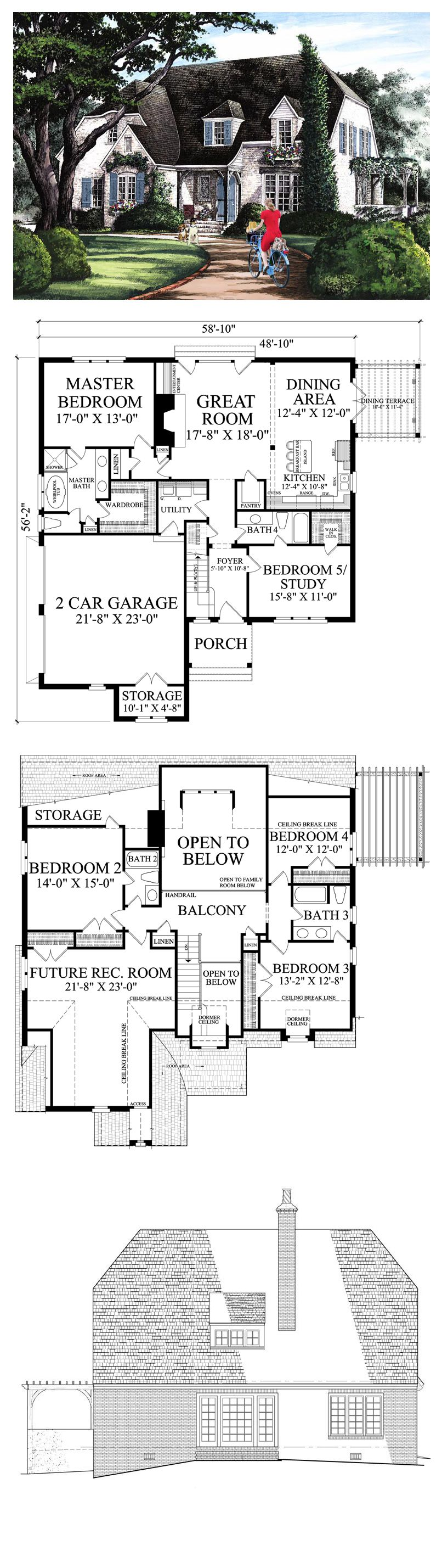 Cottage House Plan 86154 Total Living Area