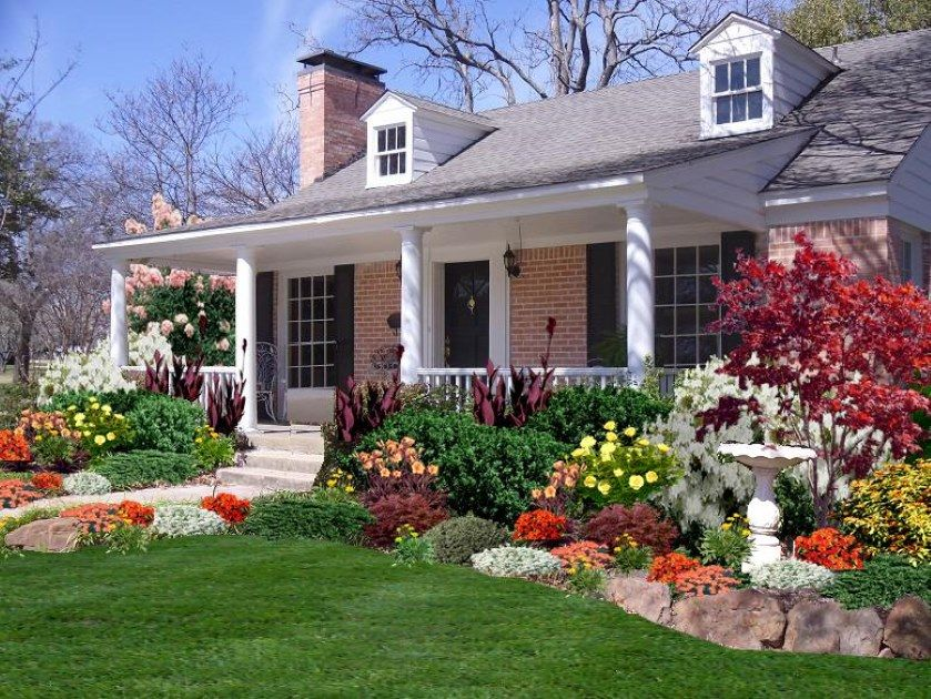 landscaping a cape cod style house - Beautiful Landscapes For Houses