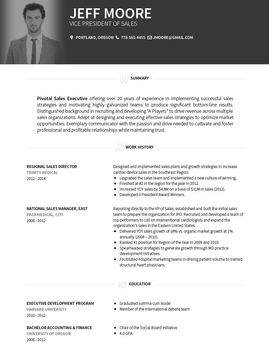 Resume Format For 4 Years Experience In Hr Cv resume