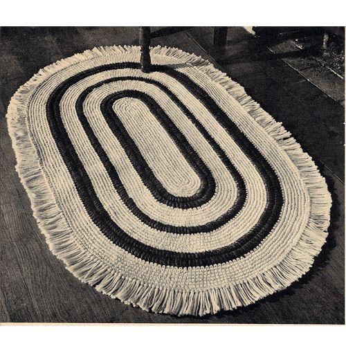 Oval Crochet Rug Pattern With Fringe Crochet Rug Patterns Vintage