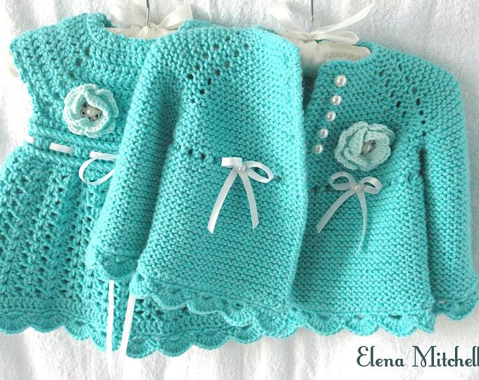 Knitting PATTERN Baby Jacket Baby Cardigan Garter stitch Knit ...