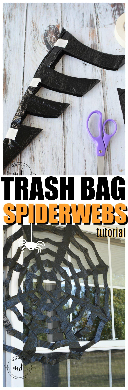 How To Make Trash Bag Spiderwebs Halloween Games For Kids
